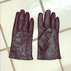 Black leather gloves size s/m